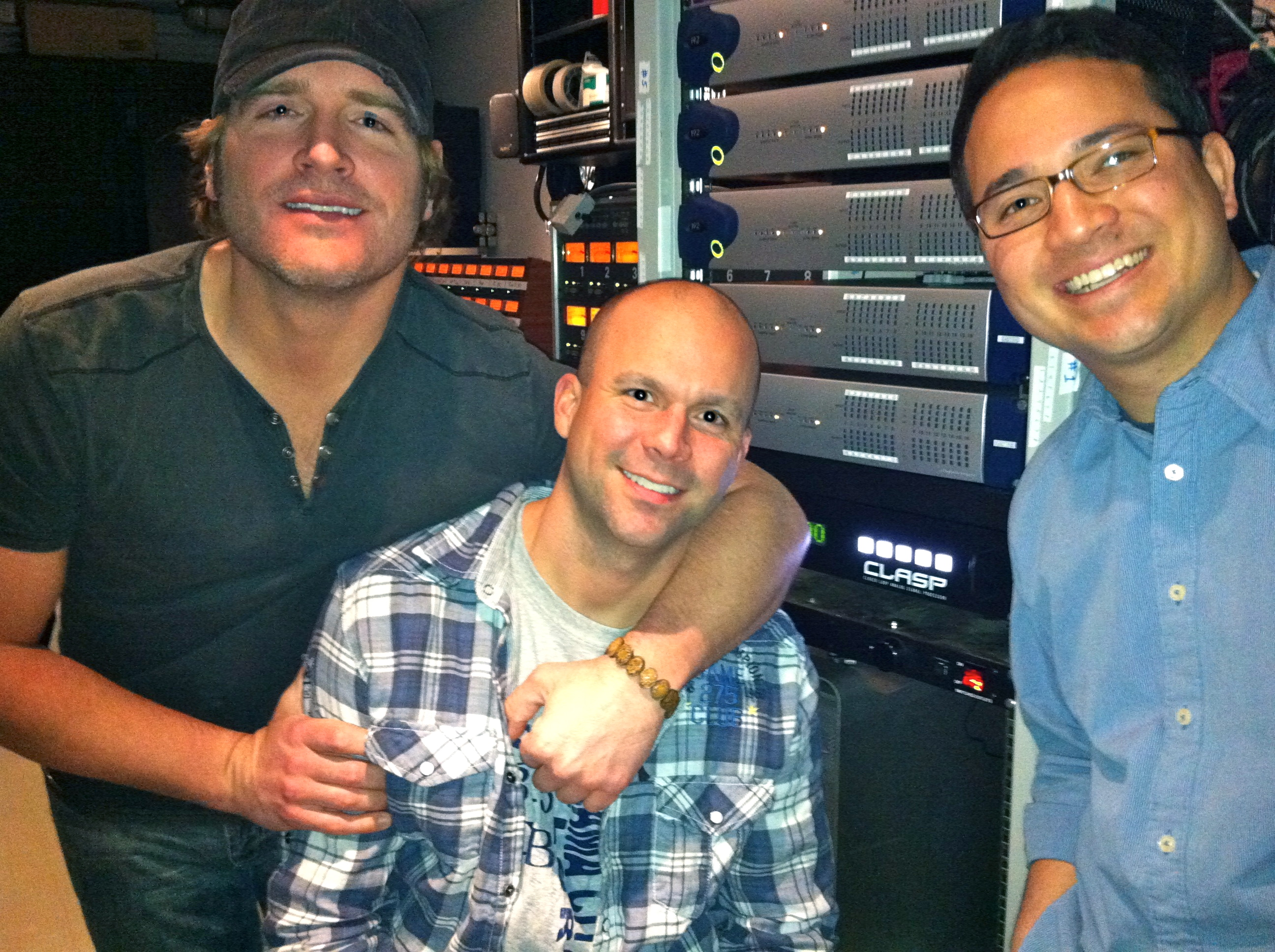 SONY / ARISTA Records Country Music Artist Jarrod Neimann with Engineer Brian Kolb and Producer Dave Brainard